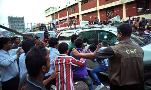 BD leader Khaleda Zia attacked