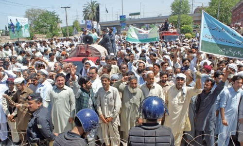 Police use tear gas, batons to break protest in Peshawar