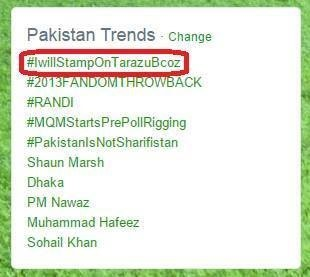 Image shows JI's hashtag on top of Pakistan Twitter trends