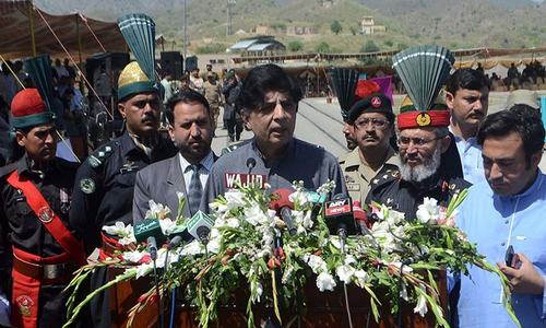 Nisar lauds FC's sacrifices in fighting terrorism