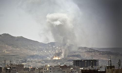 Saudi-led strikes kill at least 12 Houthi rebels in Yemen