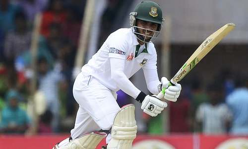 Babar strikes late as Bangladesh close first day on 236/4