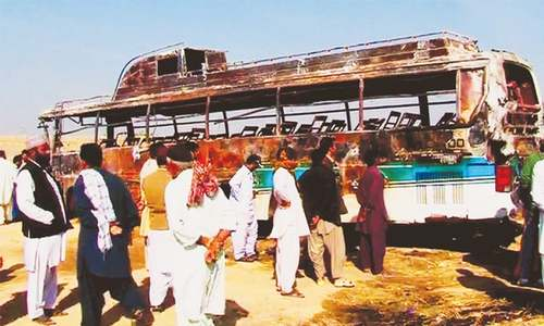 13 die as fire engulfs bus carrying wedding party