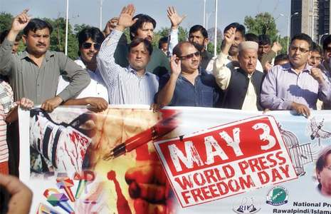 Mediapersons vow to protect freedom of press