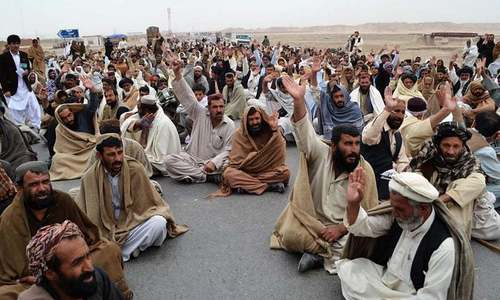 Protest against plan to change CPEC route held