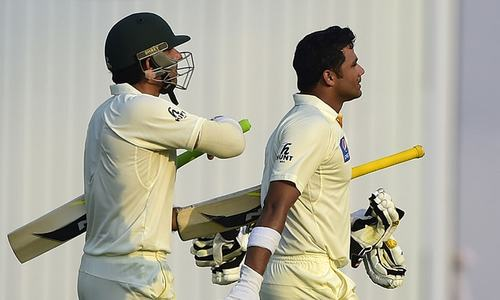 Younus, Azhar score tons as Pakistan post 323