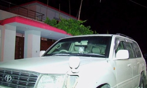 Maulana Wasey's vehicle.- DawnNews screengrab
