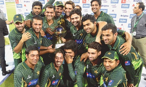 Pakistan wrap up T20 series after tense win
