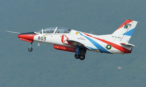 Army trainer aircraft crashes in Swabi, pilots eject safely