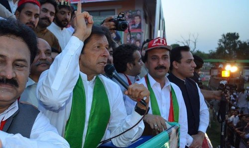 PTI holds Peshawar rally disregarding ban under section 144