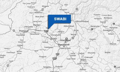Reserve police deployed for election security in Swabi