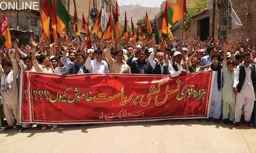 Hazaras protest against killings