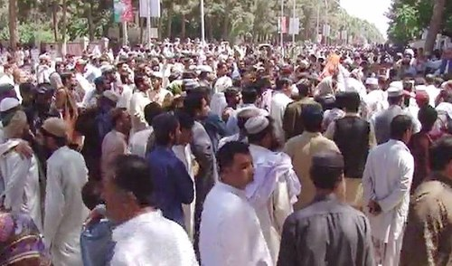 Relatives of Mastung victims stage sit-in outside governor house