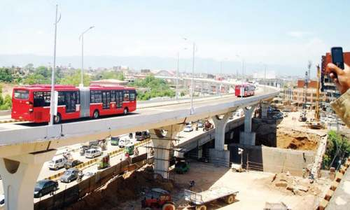 Mediapersons take a ride on metro buses