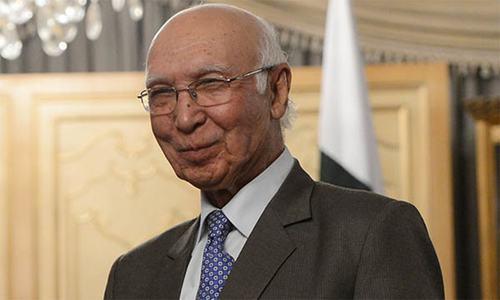 India's protests against human rights violations in Pakistan ironic: Sartaj Aziz