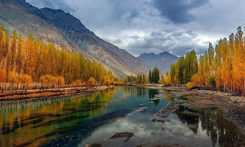 The music of Ghizer's flowing River