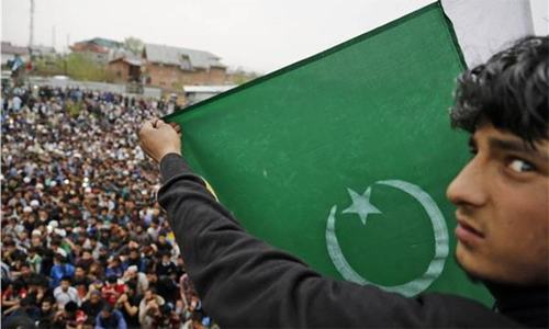 Meet the young men who make Pakistani flags in India-held Kashmir