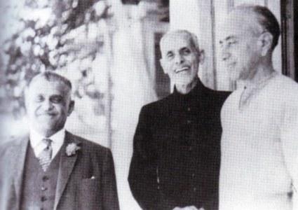 محمد ایوب کھوڑو، شیخ عبدالمجید سندھی، اور جی ایم سید۔     .