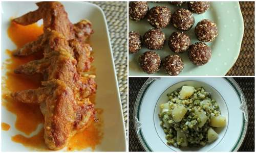 Craving healthy Iftar? Try these Date and Nut Bites and Baked Chicken Wings!