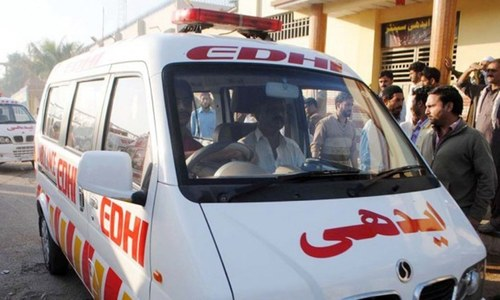Two hurt as Edhi Centre roof caves in