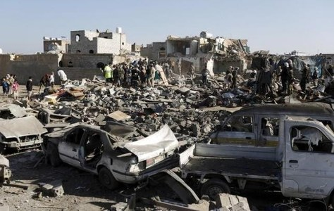 Air strikes, ground combat in Yemen killed nearly 200 on Monday