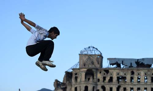 Finding freedom: Parkour is a hit on dusty Kabul streets