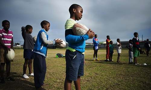 Young black South Africans tackle Springbok race barrier