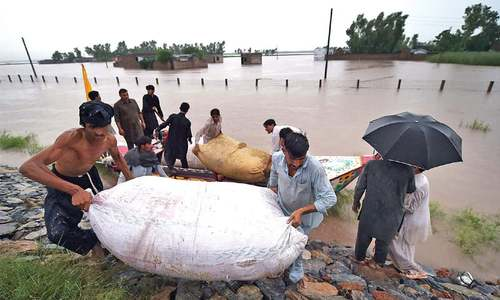 Raging Kabul River forces scores in Nowshera to move to safer places