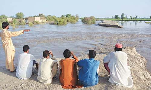 Indus in 'very high' flood; hill torrents devastate large areas