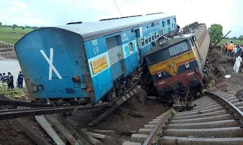 24 dead after two trains derail in India