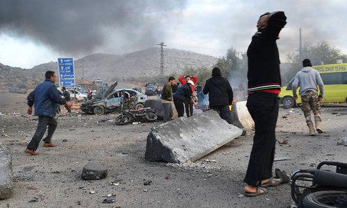 Air raids near Syrian capital kill more than 80