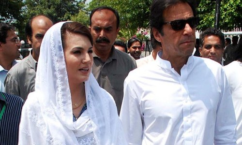 Reham won't attend PTI events in future, says Imran