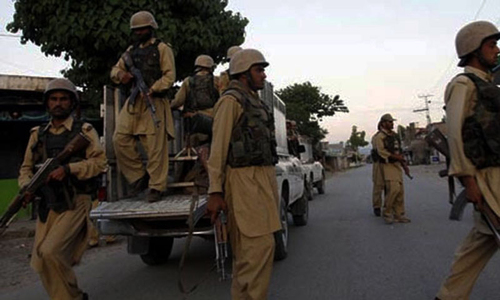 Eight militants including commander killed: Frontier Corps