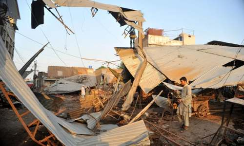 Over 100 shops demolished in fruit, vegetable market