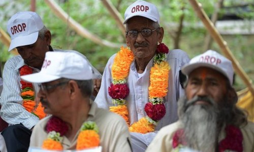 Indian army veterans boycott 1965 war carnival over pension reforms