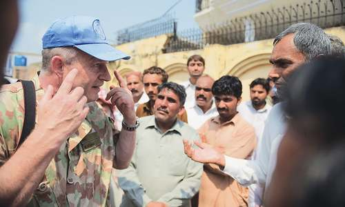 UN observers visit villages affected by Indian shelling