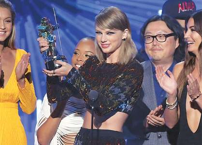 Taylor Swift crowned queen of MTV Video Music Awards