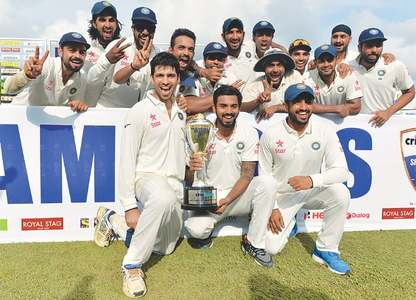 India overcome brave Mathews to end 22-year series drought in SL
