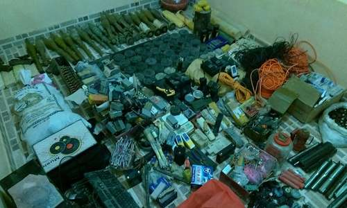 Bomb factory seized in Chaman