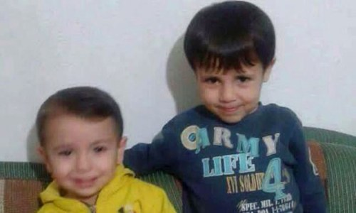 شامی بچے کی دل لرزا دینے والی تصویر