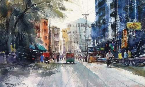 Paintings document life in Lahore's walled city