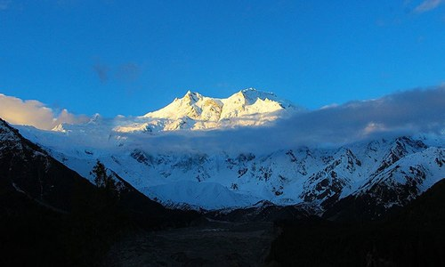 Nanga Parbat — A symphony in white and blue