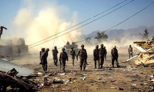 Retaliatory attack: Army destroys militants' shops in South Waziristan