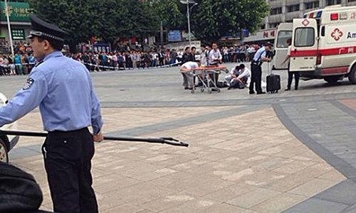 Five policemen killed in knife attack in China