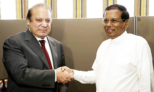 PM and Sri Lankan President Sirisena meet. ─ Photo: Prime Minister's Office official Facebook page.
