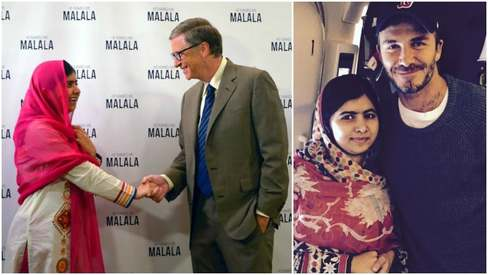 Was Malala the highlight of David Beckham and Bill Gates' weekend?