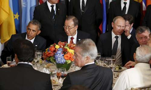 Obama, Putin clash over vision for resolving Syrian crisis