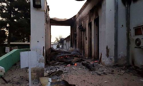 Medical aid group denies Taliban were firing from Afghan hospital hit by air strike
