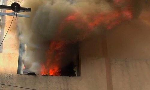 ECP office blaze swallows upcoming LB poll records in Tando Mohammad Khan