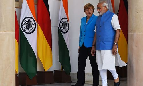 Angela Merkel on German business mission to India